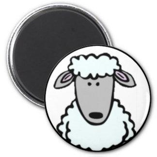 Cartoon Lamb Face Magnet