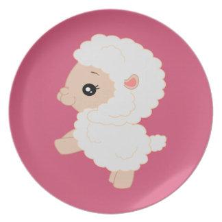 Cartoon lamb melamine plate