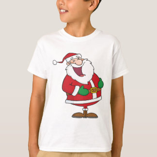 Cartoon Laughing Santa Claus T-Shirt