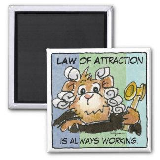 Cartoon Law of Attraction Hamster Judge Magnet