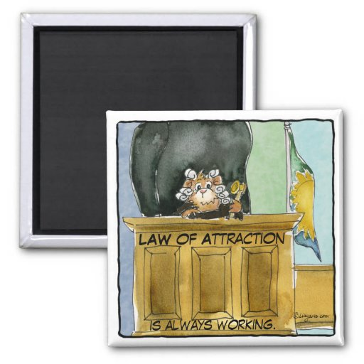 Cartoon Law of Attraction Magnet