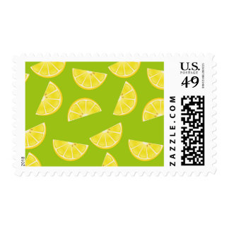 Cartoon lemon stamp