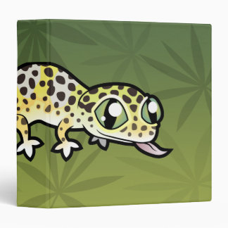 Cartoon Leopard Gecko 3 Ring Binder