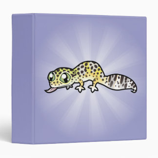 Cartoon Leopard Gecko Binder