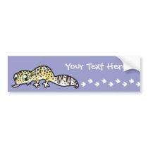 Cartoon Leopard Gecko Bumper Sticker