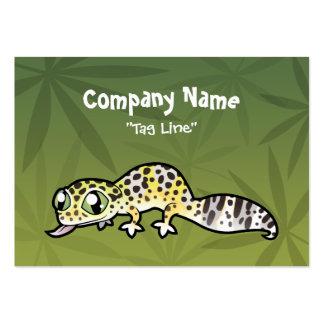 Cartoon Leopard Gecko Business Card