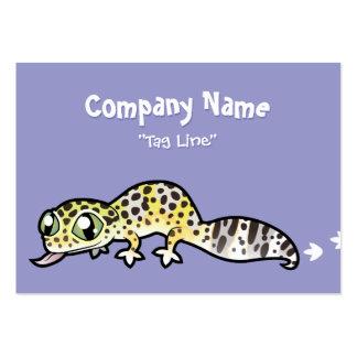 Cartoon Leopard Gecko Business Card Template