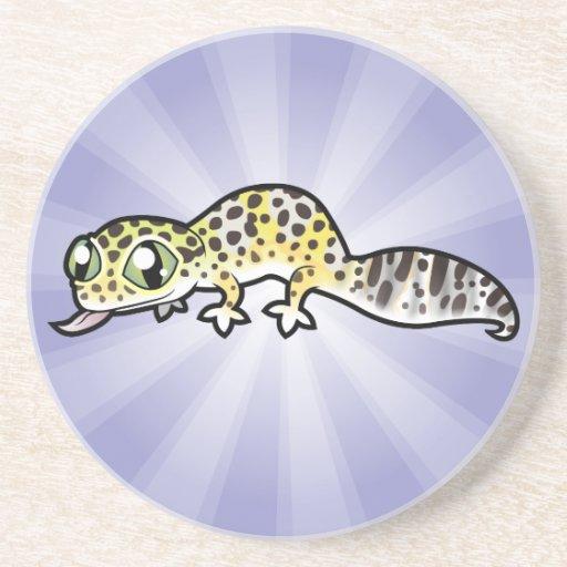 Cartoon Leopard Gecko Coaster