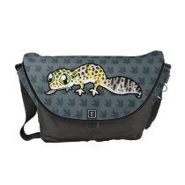 Cartoon Leopard Gecko Courier Bag