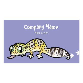 Cartoon Leopard Gecko Double-Sided Standard Business Cards (Pack Of 100)