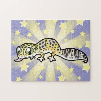 Cartoon Leopard Gecko Jigsaw Puzzle