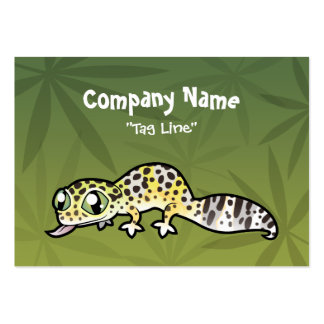 Cartoon Leopard Gecko Large Business Cards (Pack Of 100)