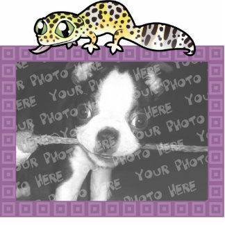 Cartoon Leopard Gecko Photo Sculpture Magnet