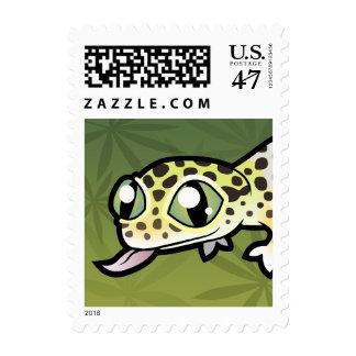 Cartoon Leopard Gecko Postage