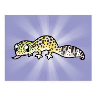 Cartoon Leopard Gecko Postcard