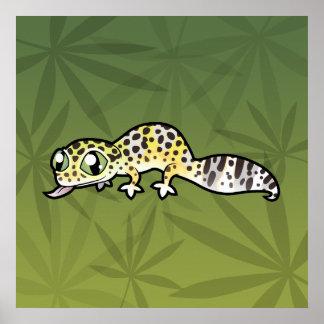 Cartoon Leopard Gecko Poster