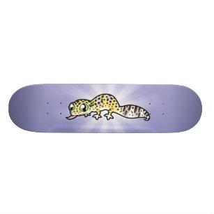 Cartoon Leopard Gecko Skateboard Deck