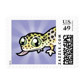 Cartoon Leopard Gecko Stamp