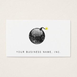 Cartoon Letterpress Style Bomb Business Card