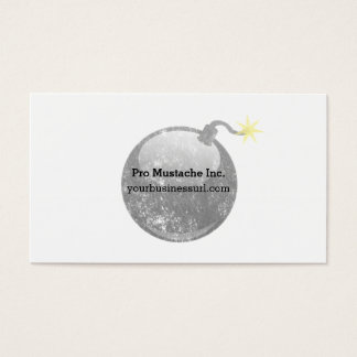 Cartoon Letterpress Style Bomb Business Card
