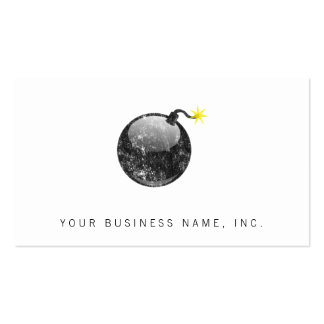 Cartoon Letterpress Style Bomb Double-Sided Standard Business Cards (Pack Of 100)