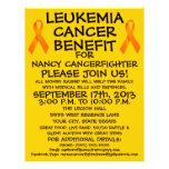 Cartoon Leukemia Cancer Benefit Flyer