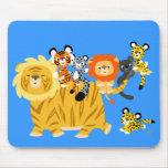 Cartoon Liger and Friends mousepad
