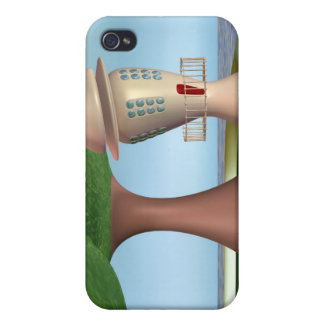 Cartoon Lighthouse By The Sea iPhone 4 Cases