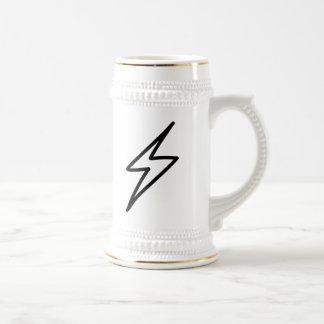 Cartoon Lightning Bolt Beer Stein