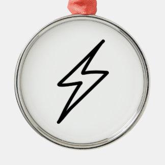 Cartoon Lightning Bolt Christmas Tree Ornaments