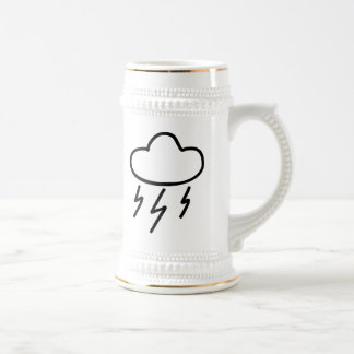 Cartoon Lightning Bolts in Cloud Mugs