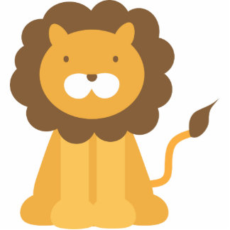 cartoon lion cutout
