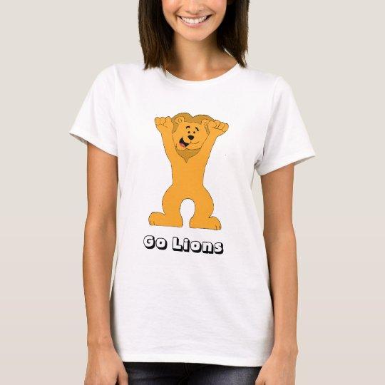 Cartoon Lion Fan Cheering T-Shirt