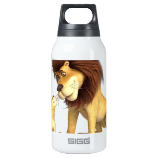 Cartoon Lion Father & Son Insulated Water Bottle