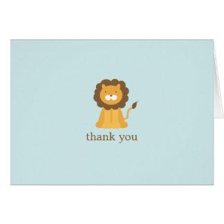 Cartoon Lion Folded Thank You Notes