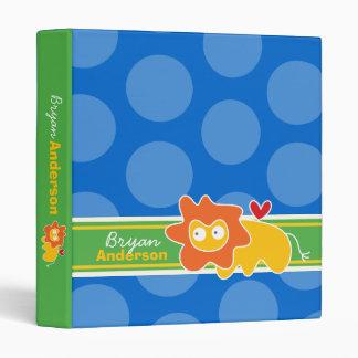 Cartoon Lion Fun Kids Custom Binder