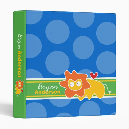 Cartoon Lion Fun Kids Custom Binder