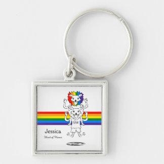 Cartoon Lion Gay Pride Wedding Keepsakes Keychain