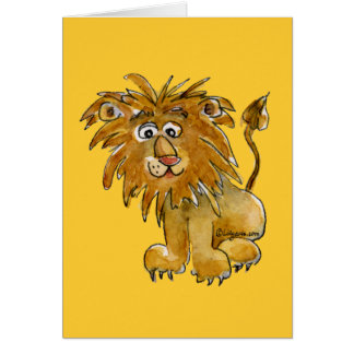 Cartoon Lion Greeting Card