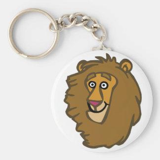 Cartoon Lion Head Keychain
