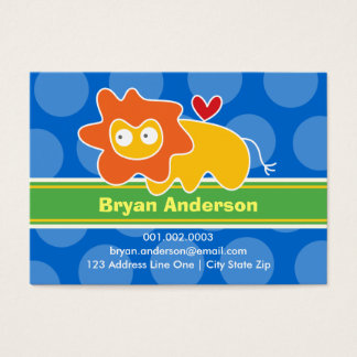 Cartoon Lion Kid Photo Profile / Name Card