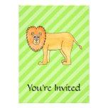 Cartoon Lion. Personalized Invitations