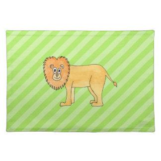 Cartoon Lion. Placemat