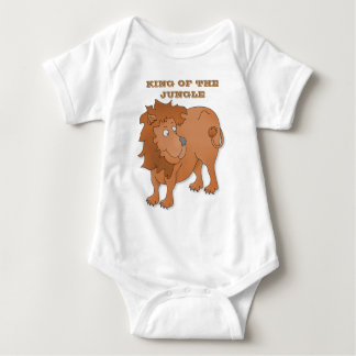 Cartoon lion, playing with his tail baby bodysuit