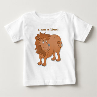 Cartoon lion, playing with his tail baby T-Shirt