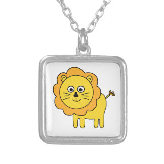 Cartoon Lion Silver Plated Necklace