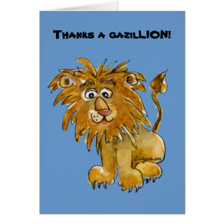 Cartoon Lion Thank You Cards