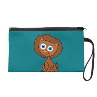 Cartoon Lion Wristlet Purse