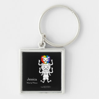 Cartoon Lions Gay Pride Wedding Keepsakes Keychain