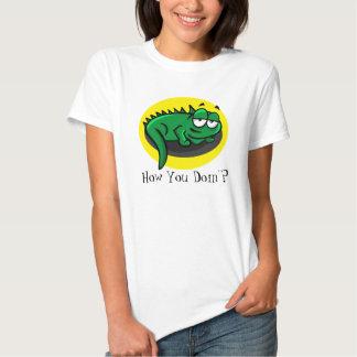 "Cartoon Lizard ""How you doin'?"" T-shirt"